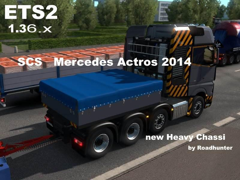 ETS2 - Mercedes-Benz Actros 2014 Heavy Chassi 8x4 (1.36.x)