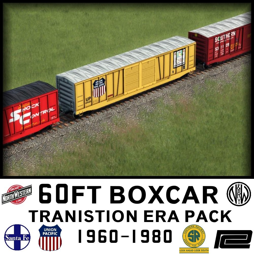 Transport Fever 2 - Generic 60FT Boxcar - Transitional Era