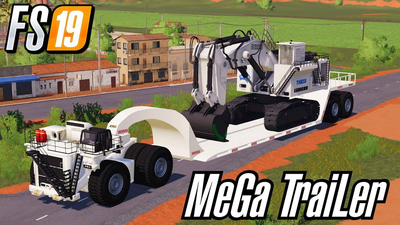 FS19 - Miners Mega Trailer Bigggest Low Loader Ever V0.8