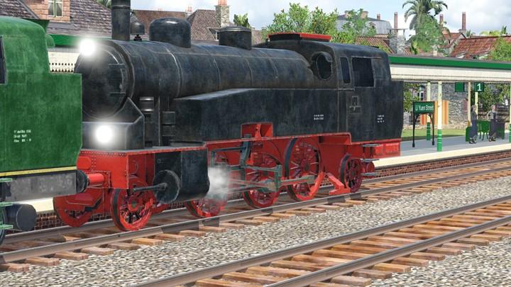 Transport Fever 2 - BR 75.4 Walschaerts Valve Gear fix (Inc. Repaint)