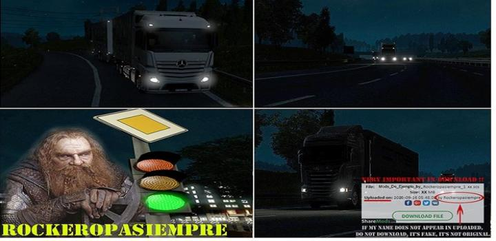 ETS2 - AI Realistic Lights V2.6 (1.35.x)