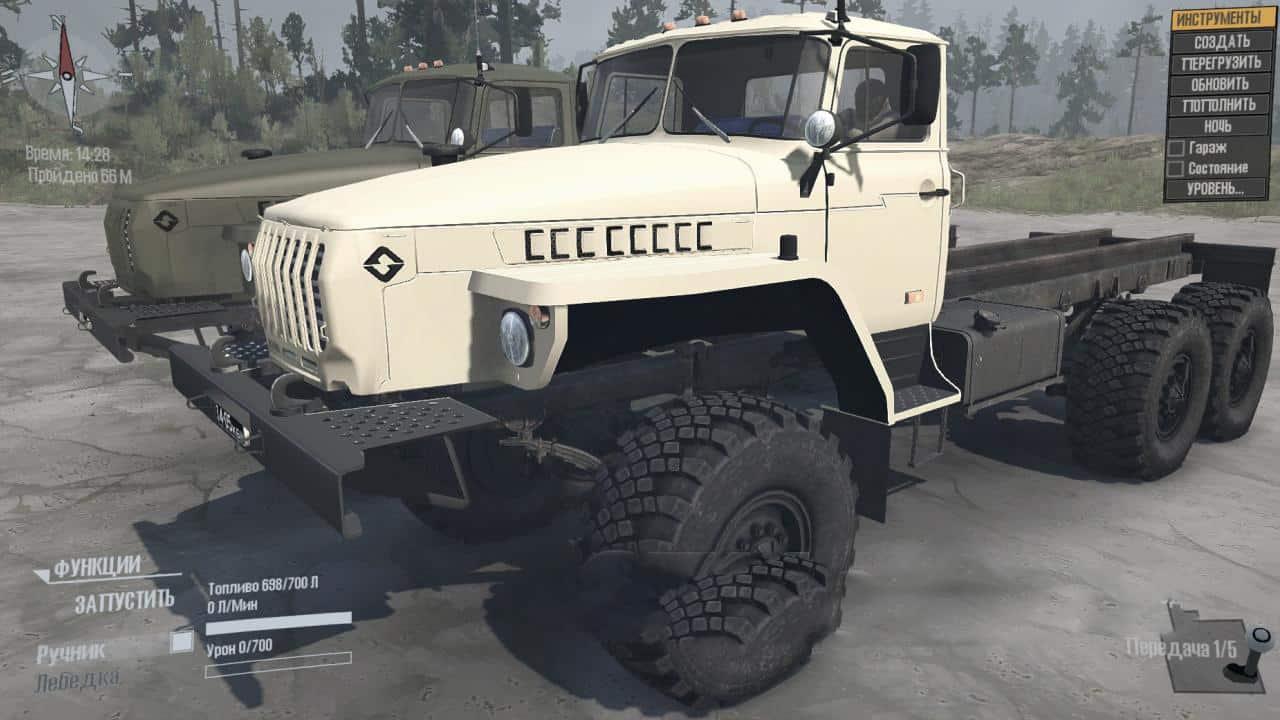 Spintires:Mudrunner - Ural-4320 Truck V10.09.20