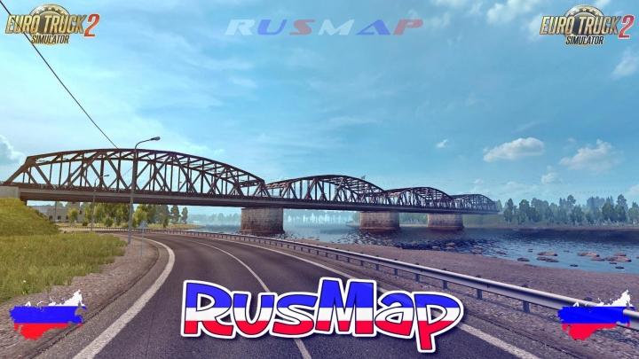 ETS2 - Fix Map RusMap V2.41 (1.41.x)