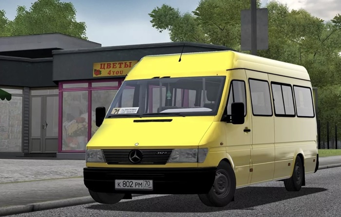 City Car Driving 1.5.9 – Mercedes-Benz Sprinter 312D