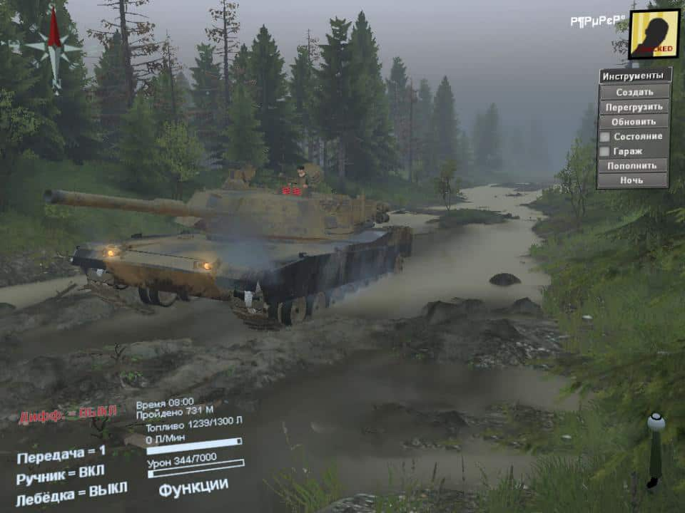 Spintires - M1 Abrams – Alteration V1.0
