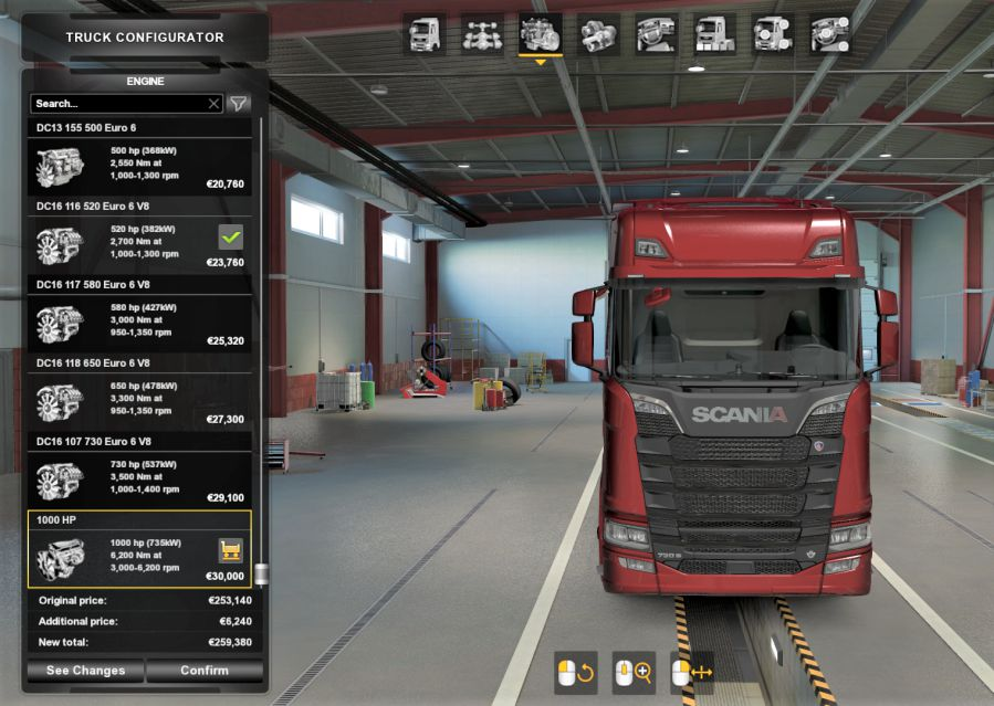 ETS2 - 1000 HP Engine for All Trucks V2.0 (1.39.x)