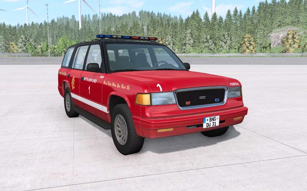 BeamNG - Gavril Roamer Chicago Fire Department Car Mod