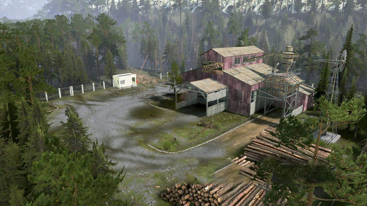 Spintires:Mudrunner - Somewhere in The Area Map v1.0