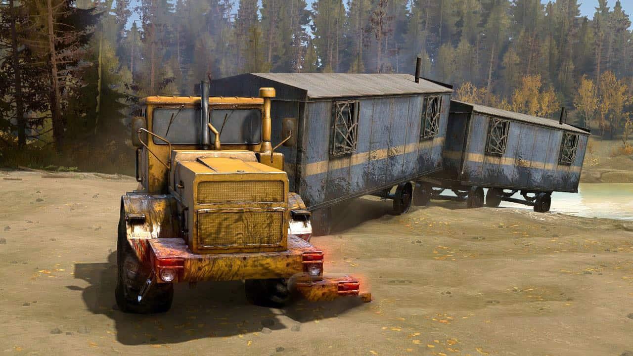 SpinTires:Mudrunner - Rafts Garage Trailers v1.1
