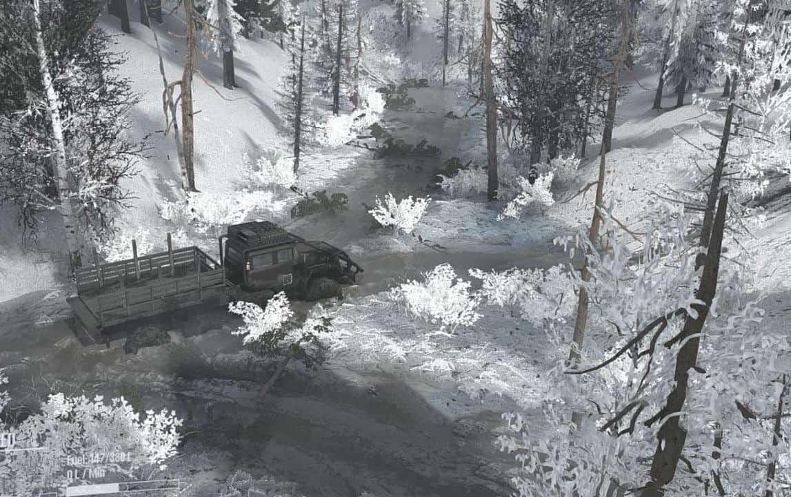 Spintires:Mudrunner - Dark Forest Snow Map V1.0