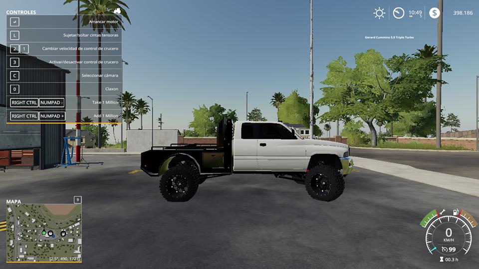 FS19 - 2ND Gen Dodge Ram 2500 Flatbed V1.0
