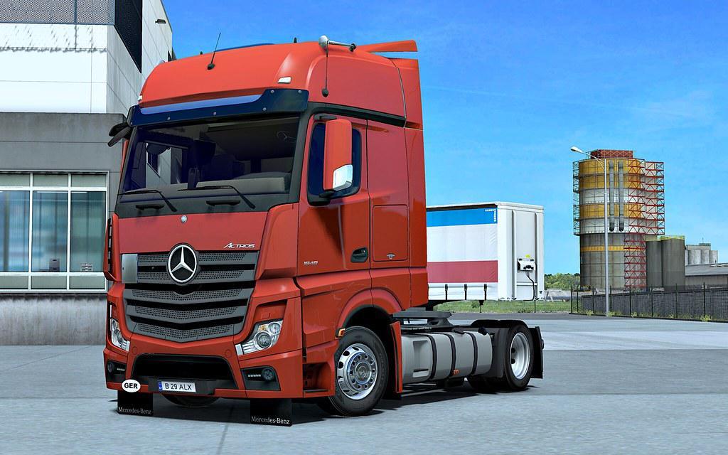 ETS2 - Mercedes Actros MP4 Truck V1.4 (1.35.X)