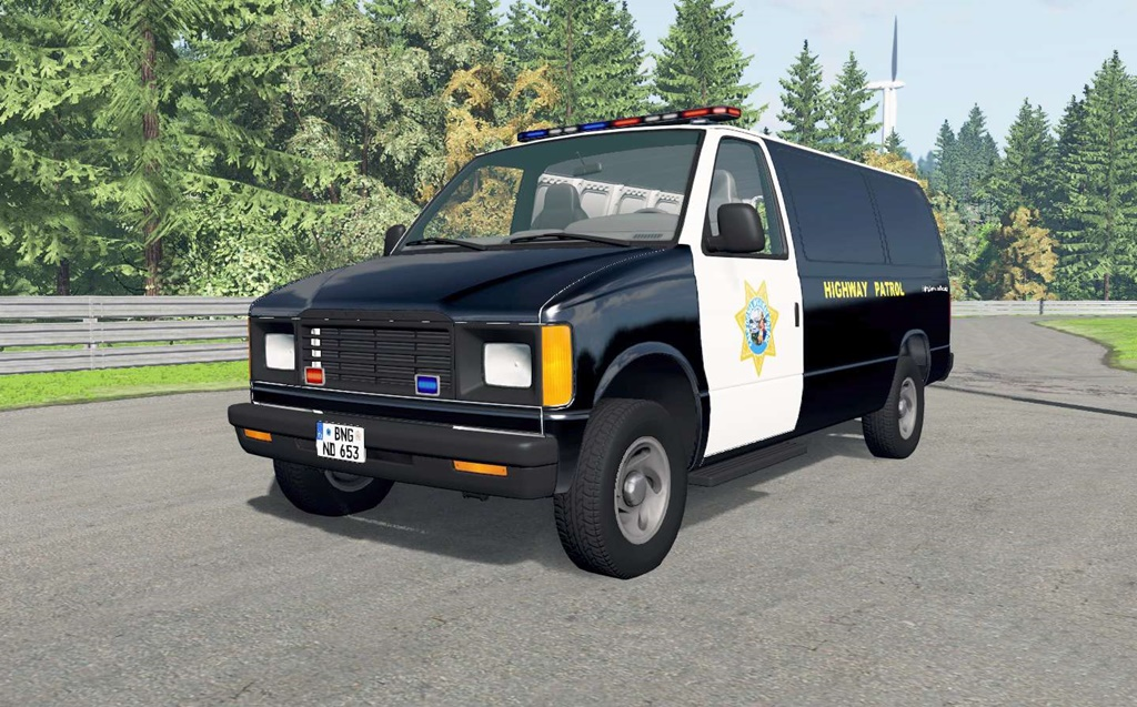 BeamNG - Gavril H-Series California Highway Patrol V1.6