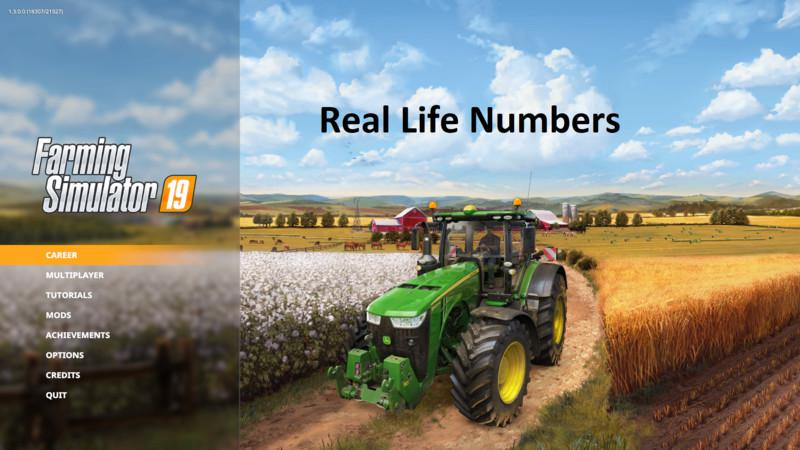 FS19 - Real Life Numbers Us Heartland V1.1.4.0