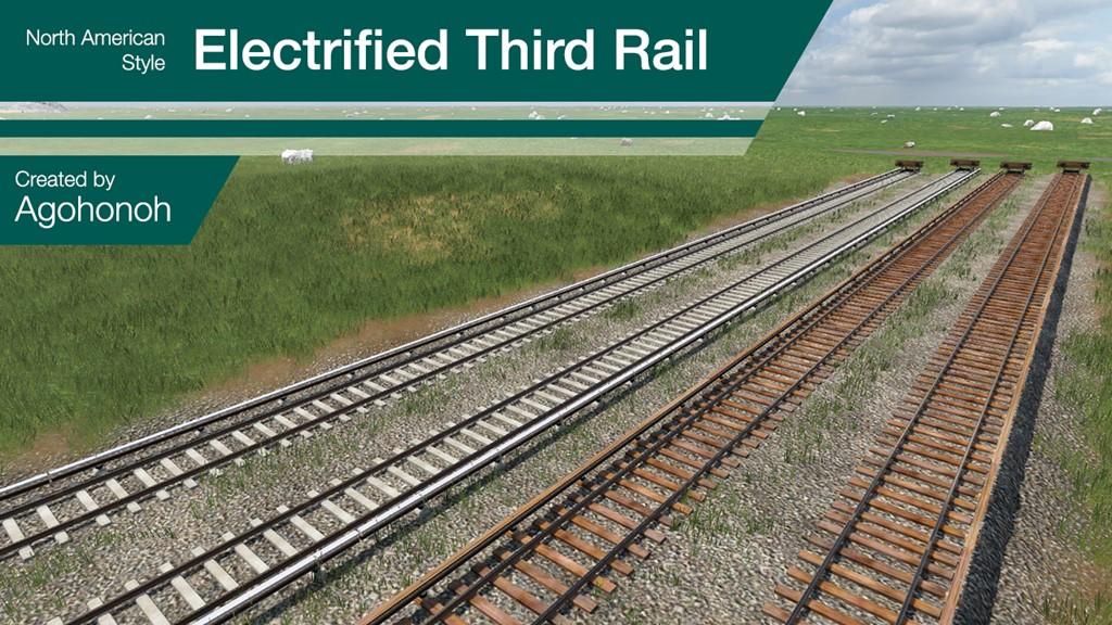 Transport Fever 2 - Third Rail Tracks: North America