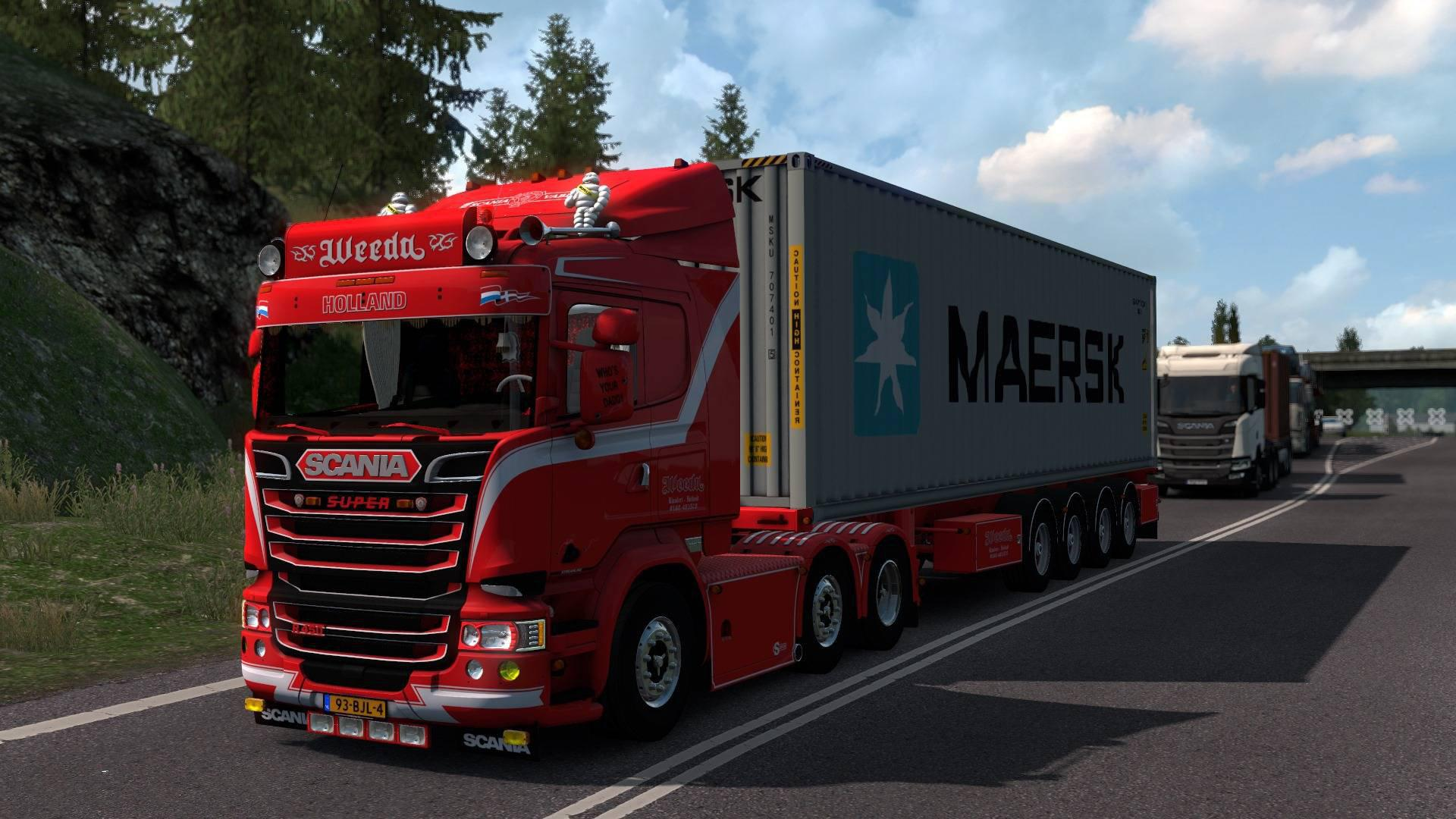 ETS2 - Scania R450 & Trailer V3.5 (1.37.x)