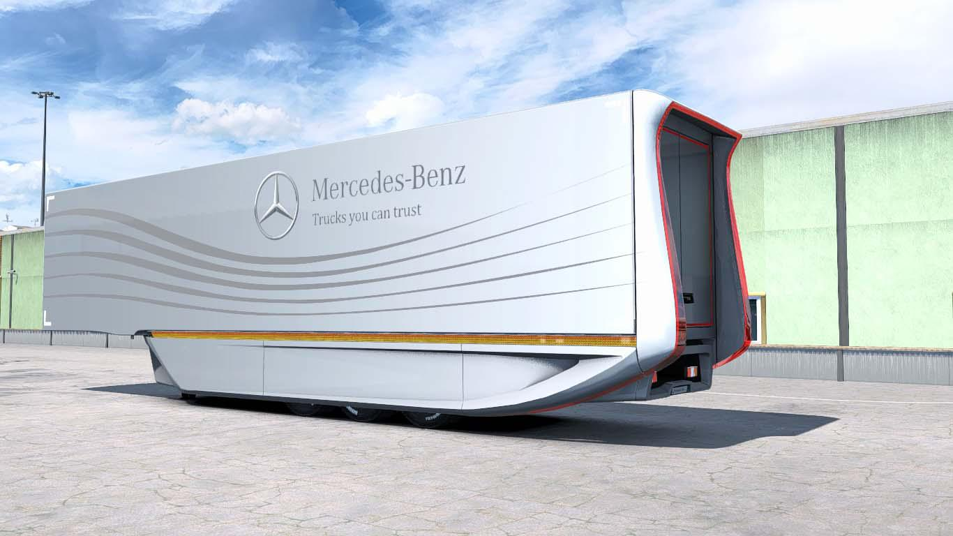 ETS2 - Mercedes AeroDynamic Trailer V1.2 (1.38.x)
