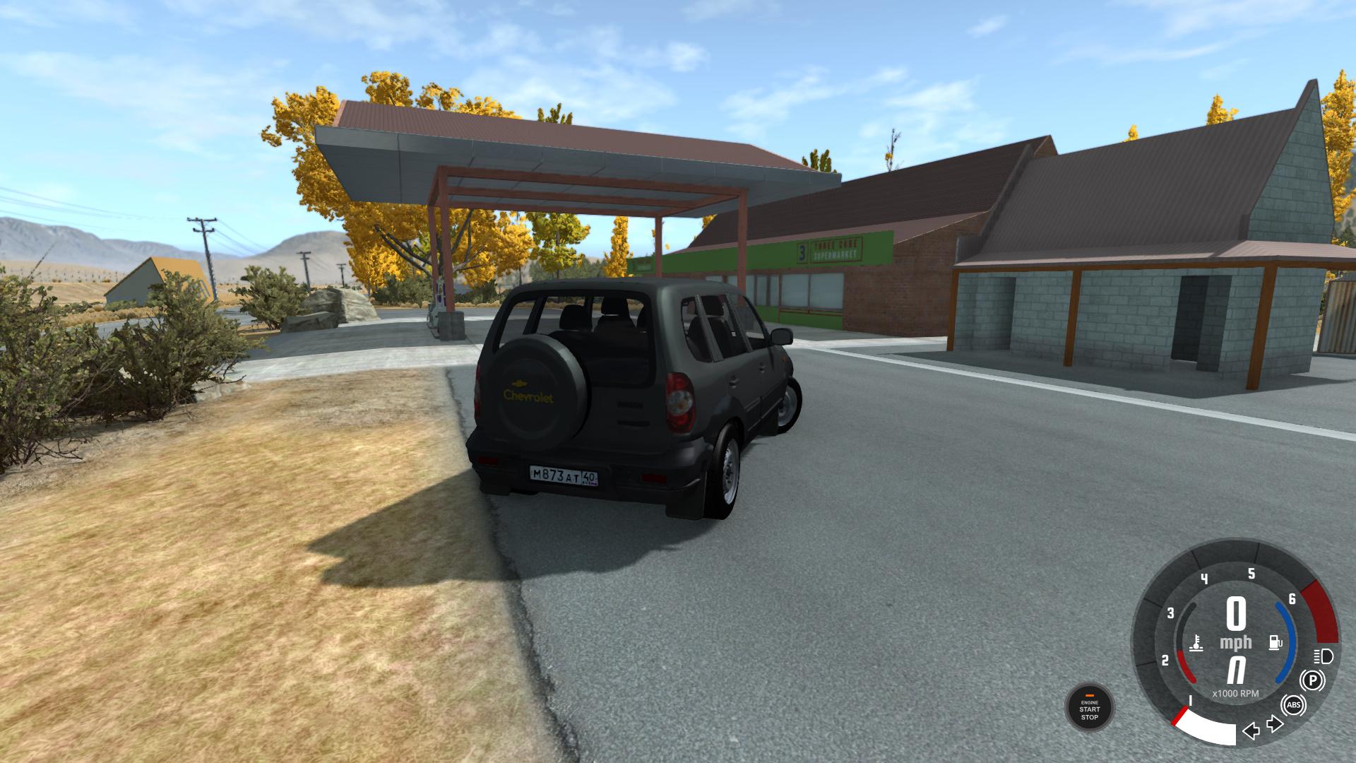 BeamNG - Chevrolet Niva Dar Grey Car Mod
