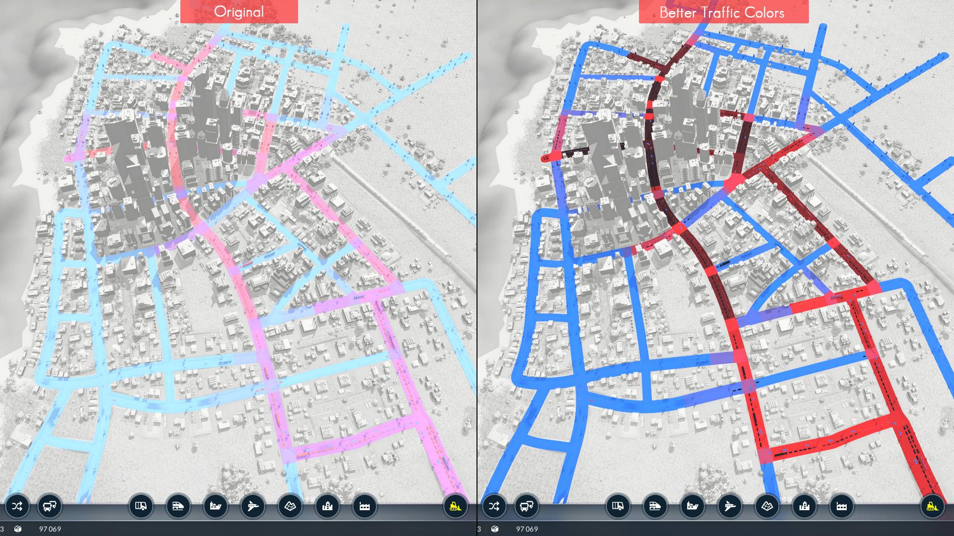 Transport Fever 2 - Better Traffic Colors