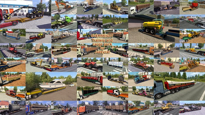 ETS2 - Overweight Trailers and Cargo Pack V9.9.1 (1.41.x)