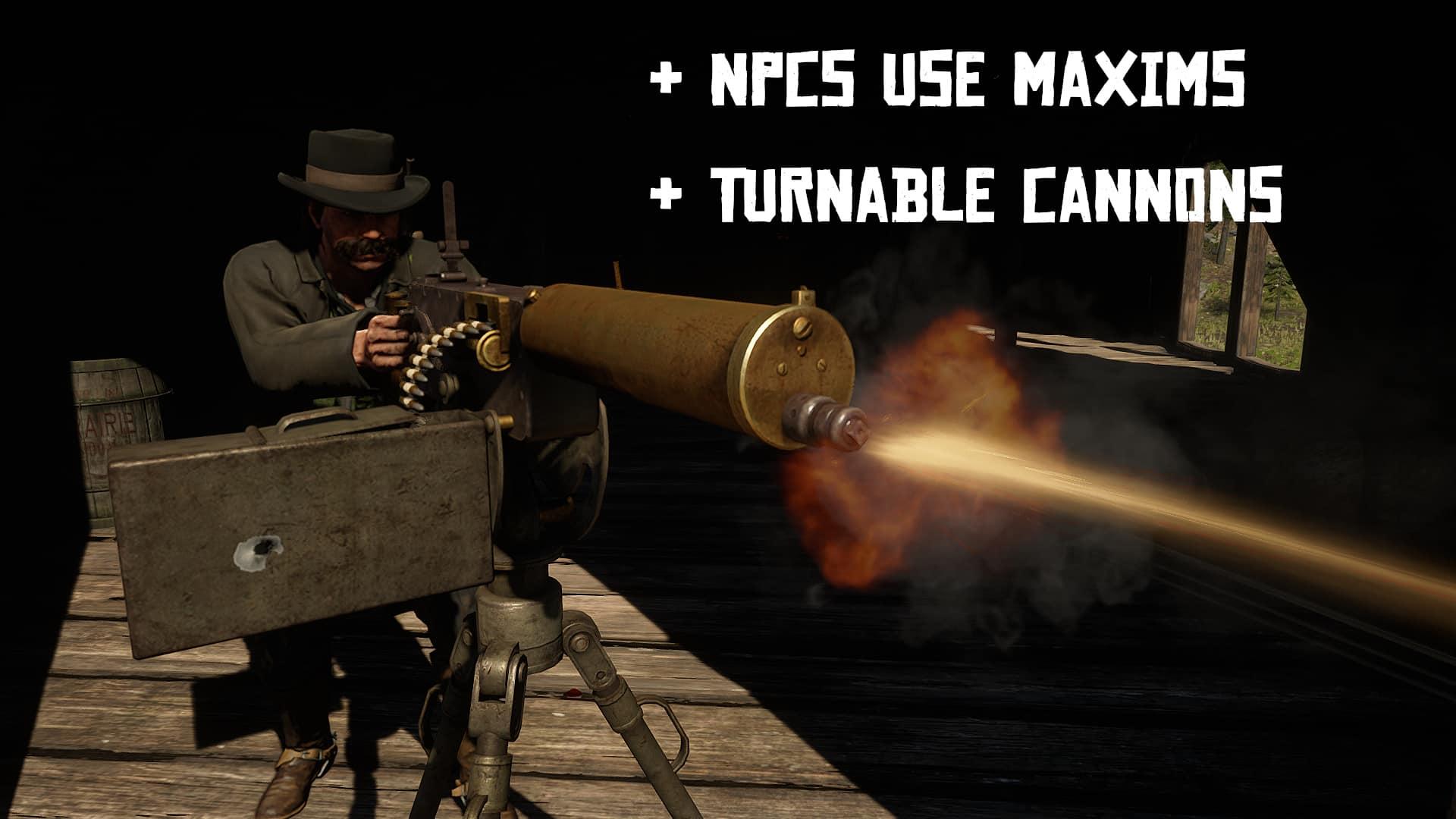RDR2 - Mounted Gun Improvements