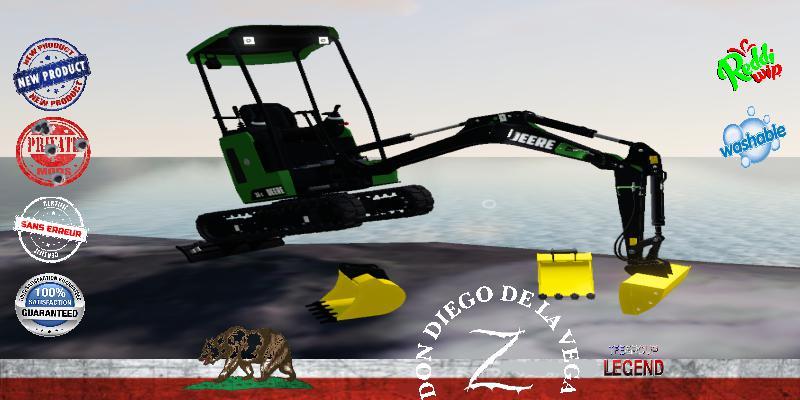 FS19 - Mini Excavator Deere 26C V1.5