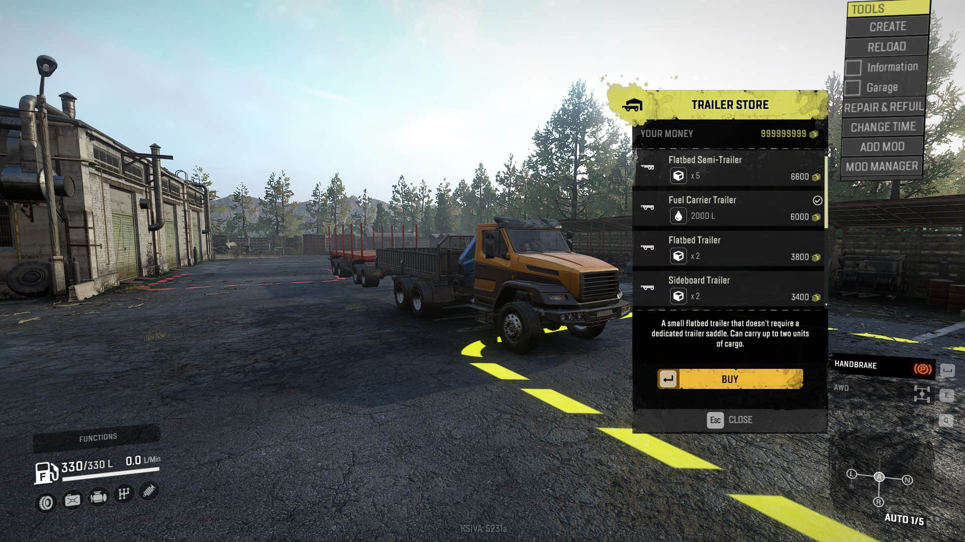 SnowRunner - Stock Trucks with Mini Crane Can Now Have Trailers V1