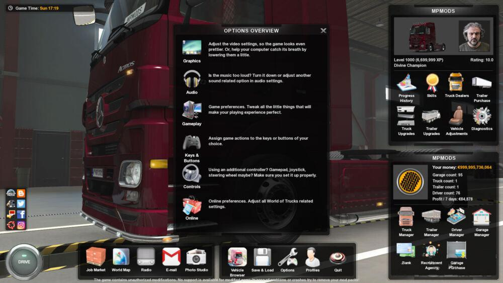 ETS2 - New Menu Icons V1.0 (1.39.x)