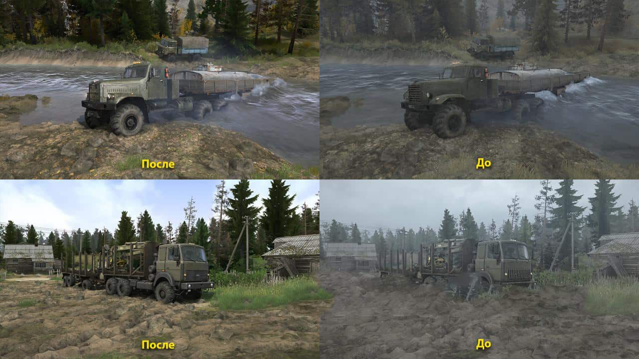 Spintires:Mudrunner - Realistic Graphics Adega Mod Pack v1.4