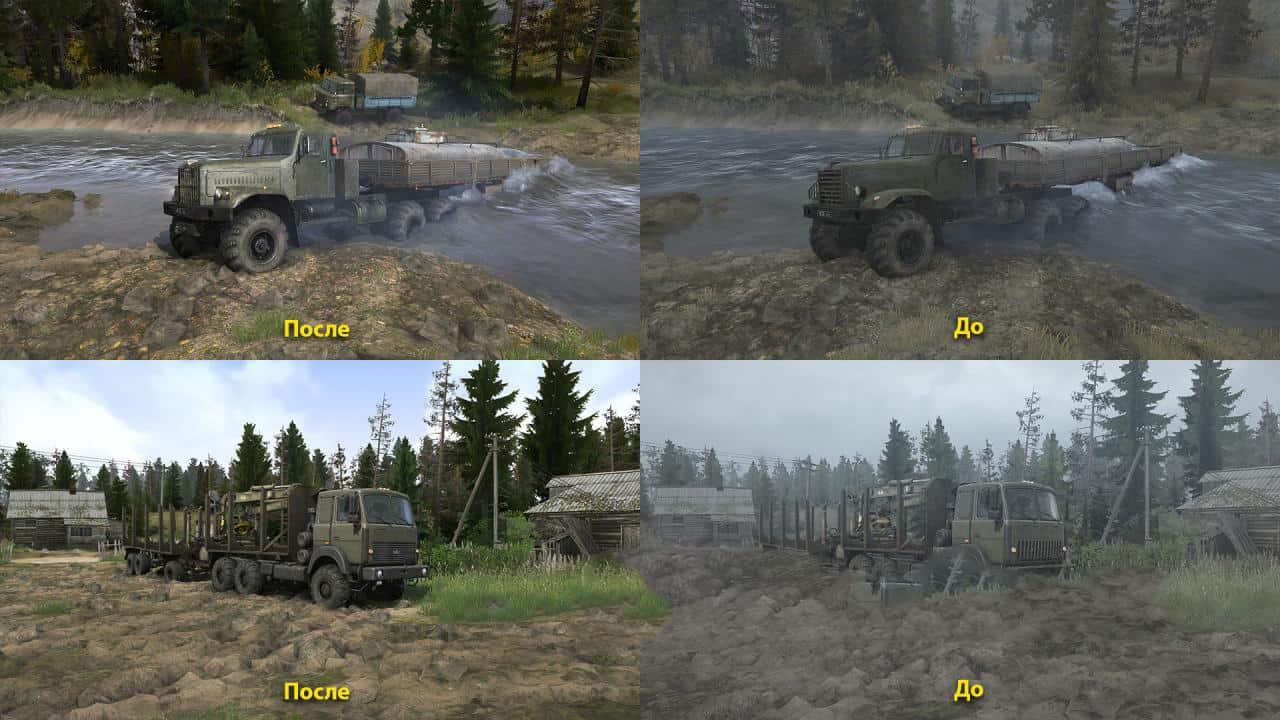 Spintires:Mudrunner - Realistic Graphics Adega Mod Pack V1.5