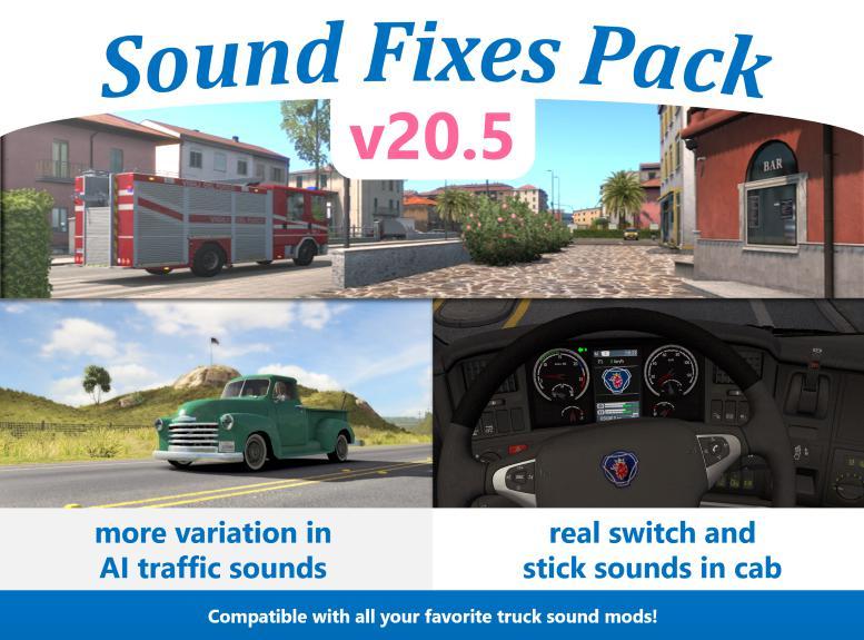 ATS - Sound Fixes Pack V20.5 (1.36.x)