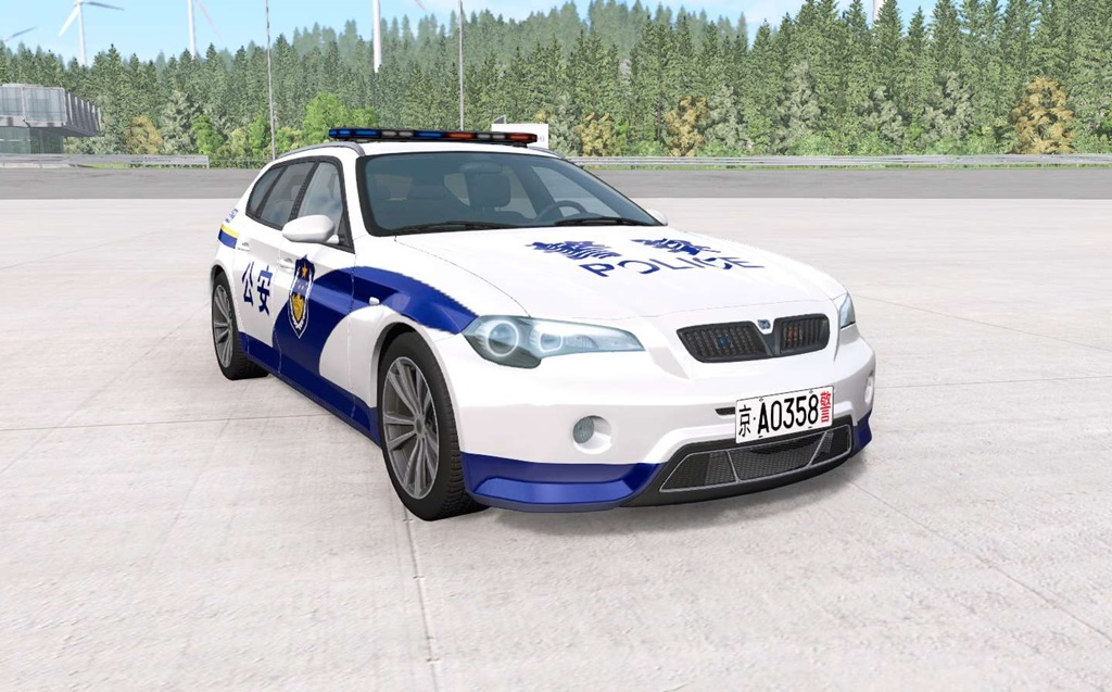 BeamNG - ETK 800-Series Chinese Police Car Mod
