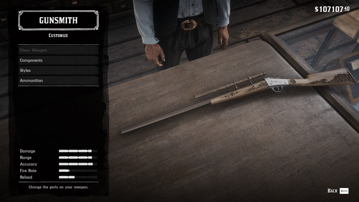 RDR2 - Rare Rolling Block Engravings on The Stock Rolling Block Rifle