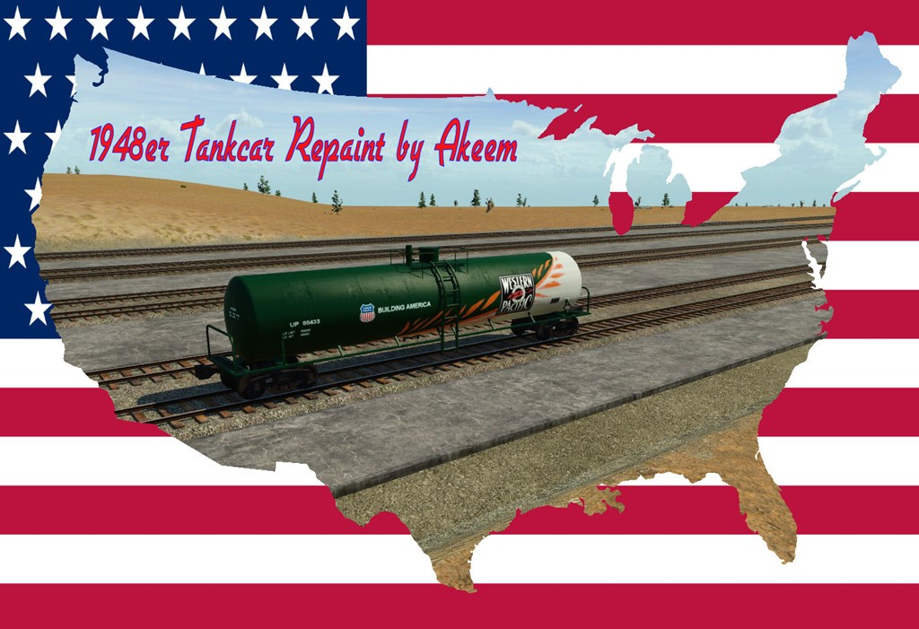Transport Fever 2 - Tankcar 1948 - Western Pacific + Fake Wagon