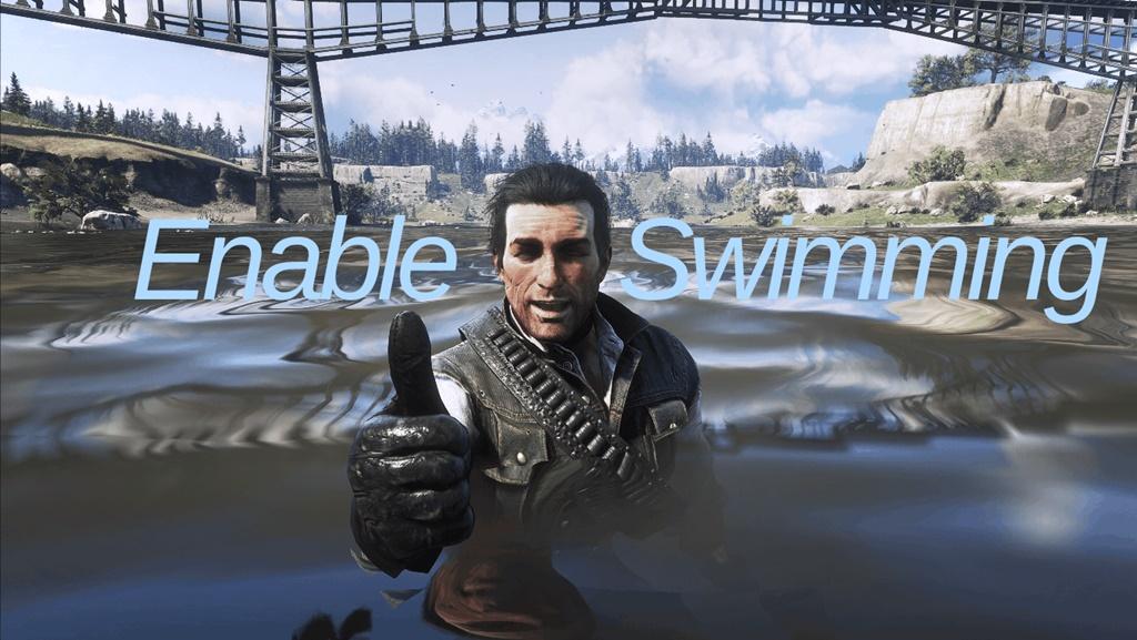 RDR2 - Enable Swimming (John Can Swim)