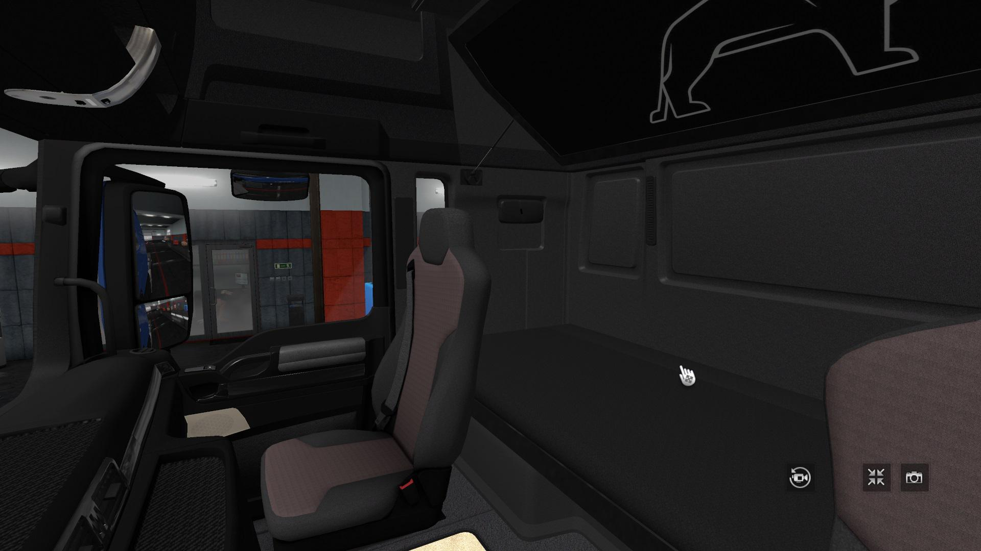 ETS2 - Changes in The interior Man TGX Euro 6 Blue (1.35.x)