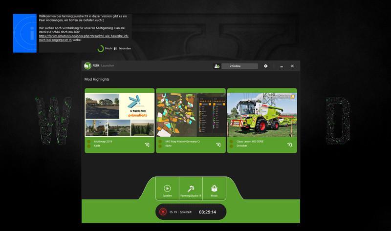 FS19 - FarmingLauncher19 V2.0 Beta