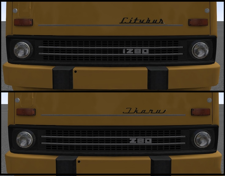 Omsi 2 – Nameplates Ikarus for Add-Ons Citybus i260 / i280