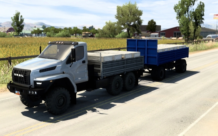 ATS - Ural Next with BDF Trailer and Cargoes V1.6 (1.40.x)