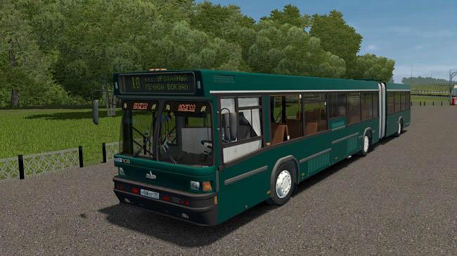 City Car Driving 1.5.9 - Maz 105.065 Articulated Bus Mod