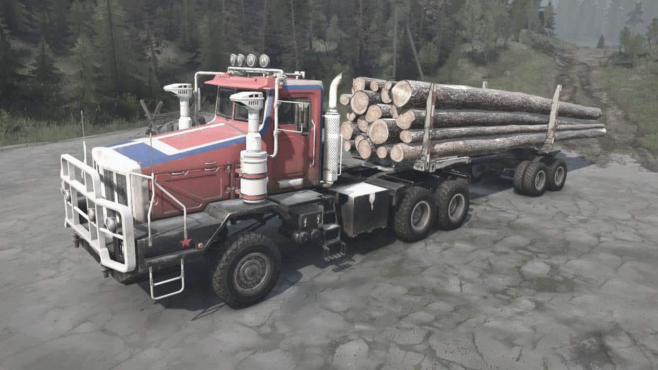 Spintires:Mudrunner - Boar-45318 (Tonar-7502) Truck V1.2