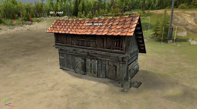 """Spintires - Object for Spintires Editor """"Shed"""" V1.0.0"""