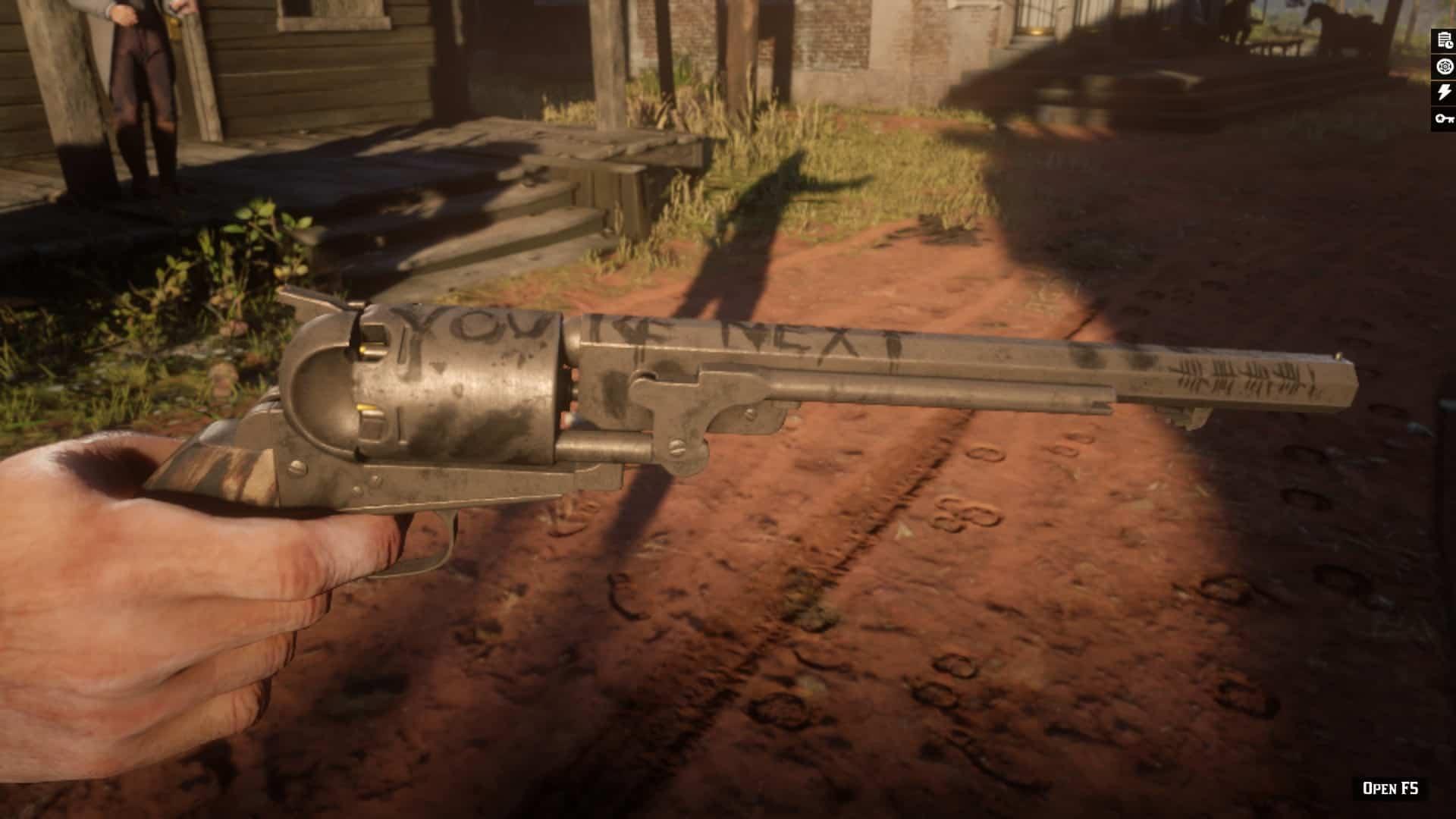RDR2 - Lowrys Revolver in Story Mod