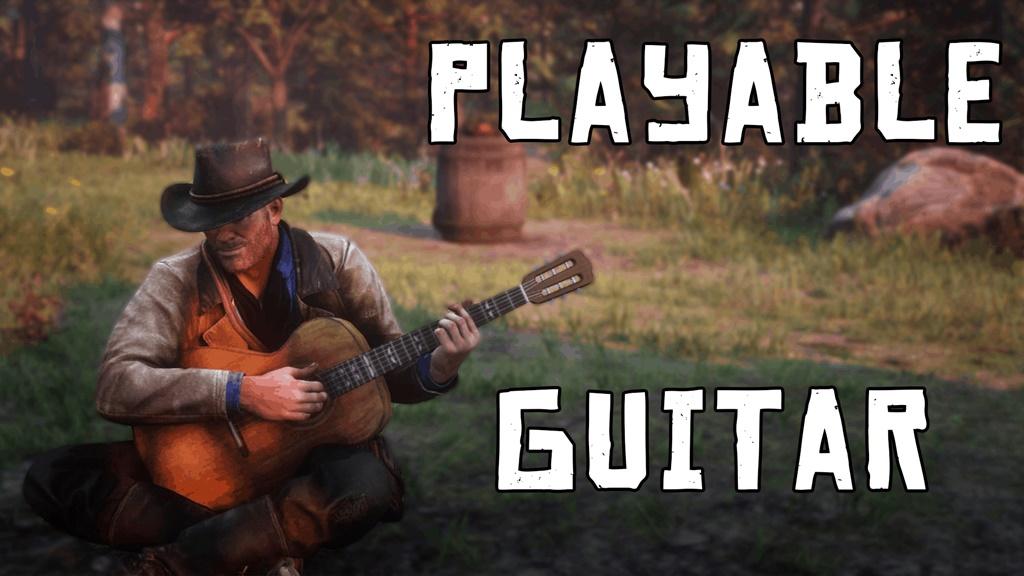 RDR2 - Playable Guitar