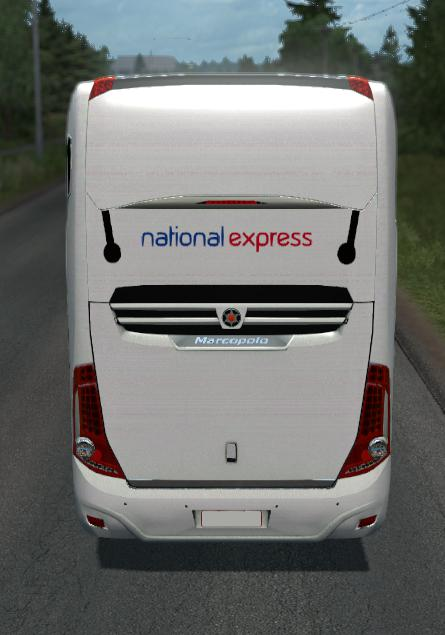 ETS2 - New Marcopolo G7 National Express (1.35-1.36)