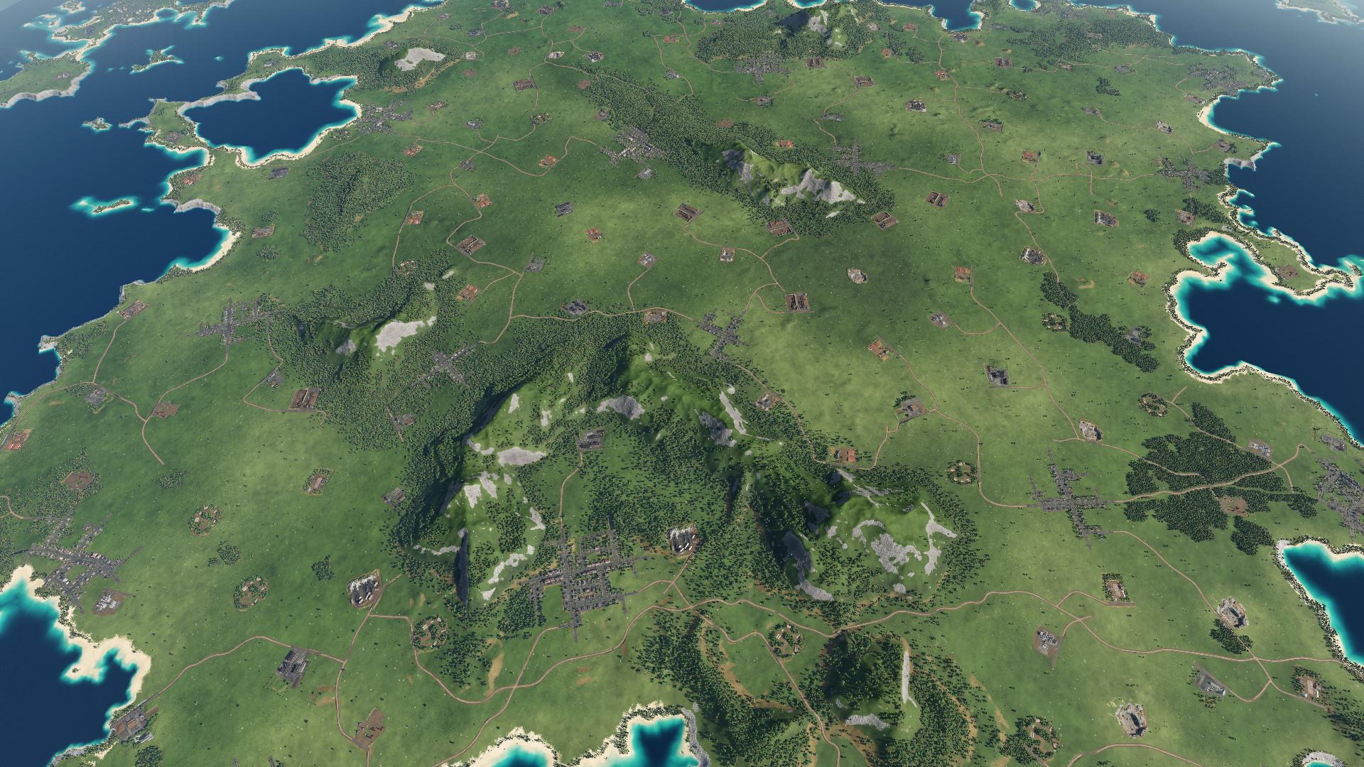 Transport Fever 2 - Islands Map