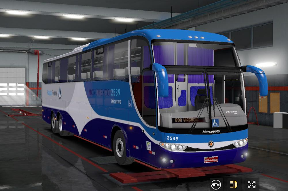 ETS2 - Marcopolo G6 1200 Mercedes Bus V2.1 (1.36.x)