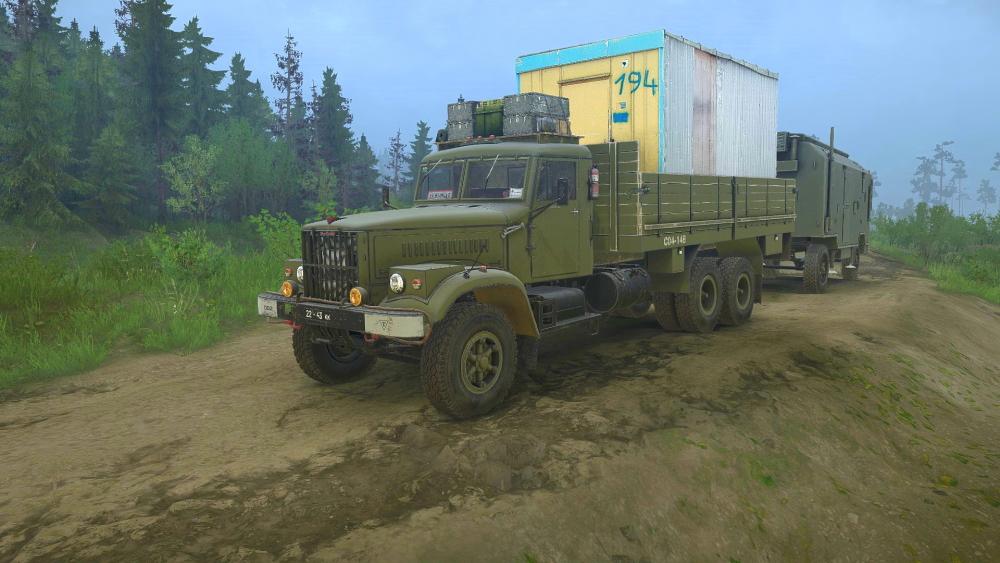 Spintires:Mudrunner - KrAZ 257 Mod Pack