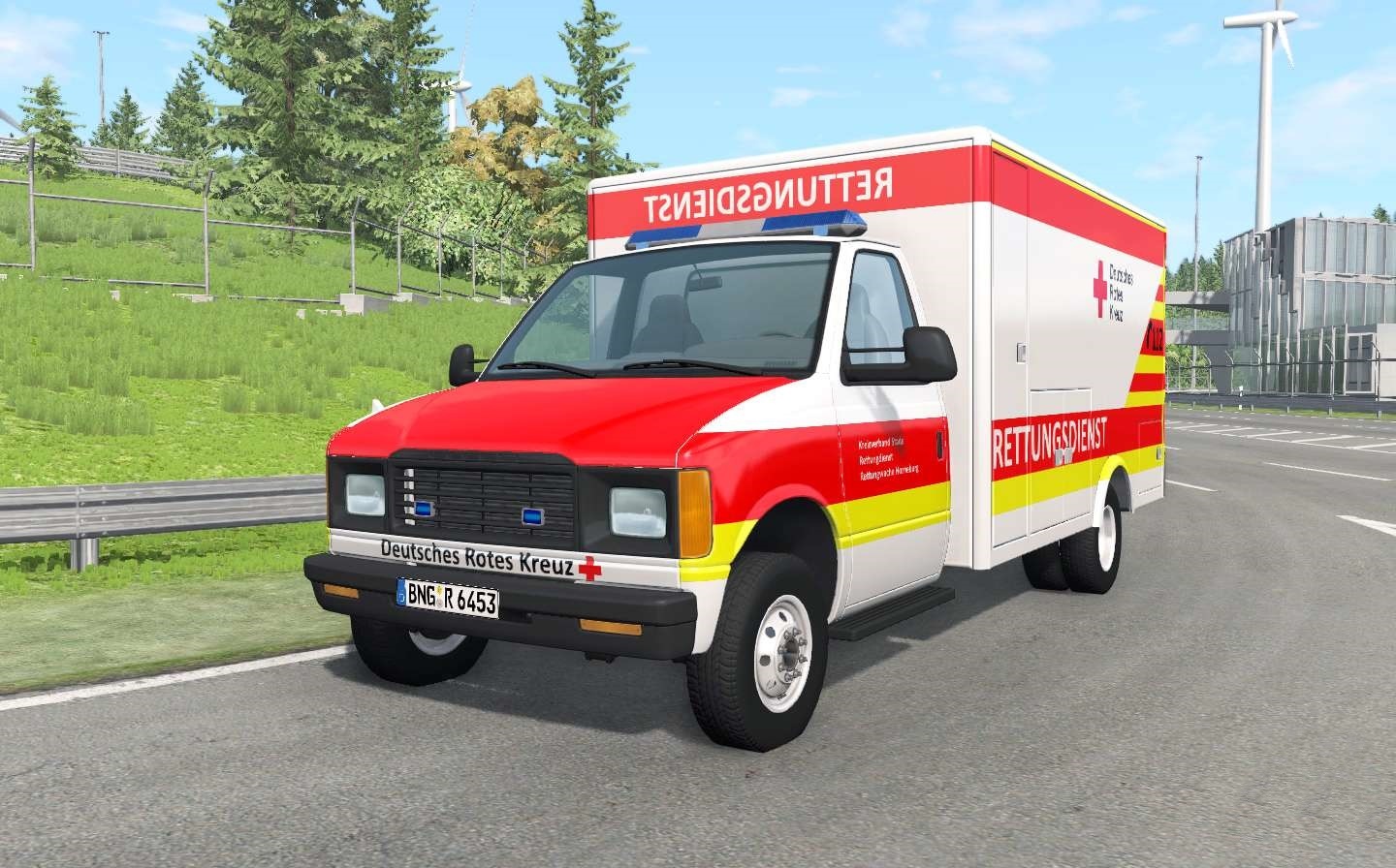 BeamNG - Gavril H-Series German Ambulance Car Mod V1.4