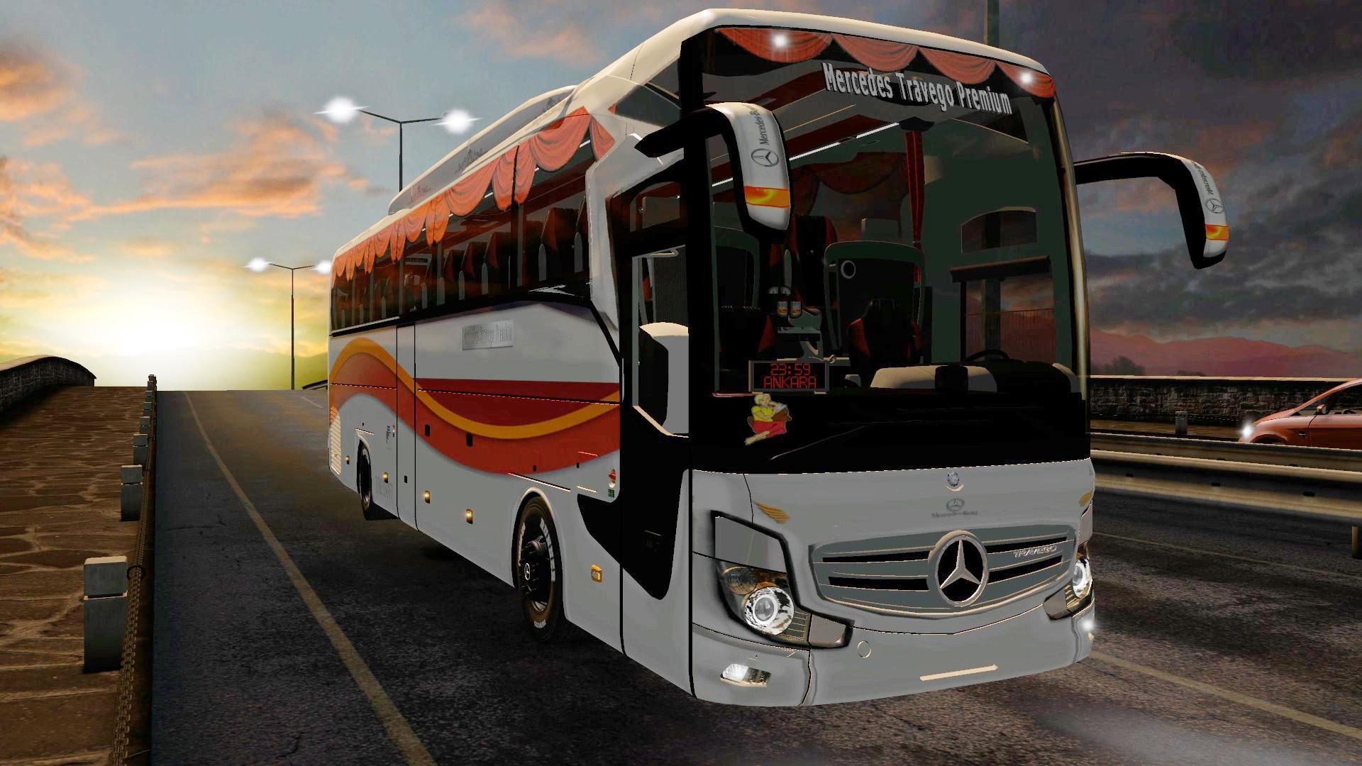 ETS2 - Mercedes Travego Premium 4k Model SHD Skin 2020 V1.0 (1.36.x)